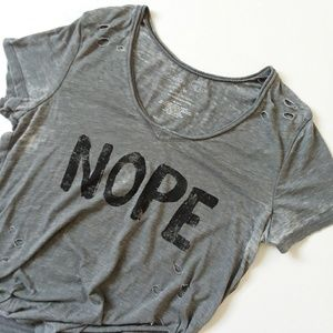 NOPE Grayson Threads distressed t shirt top